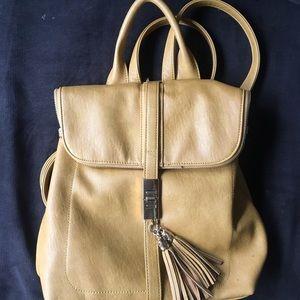 Handbags - mustard yellow backpack purse